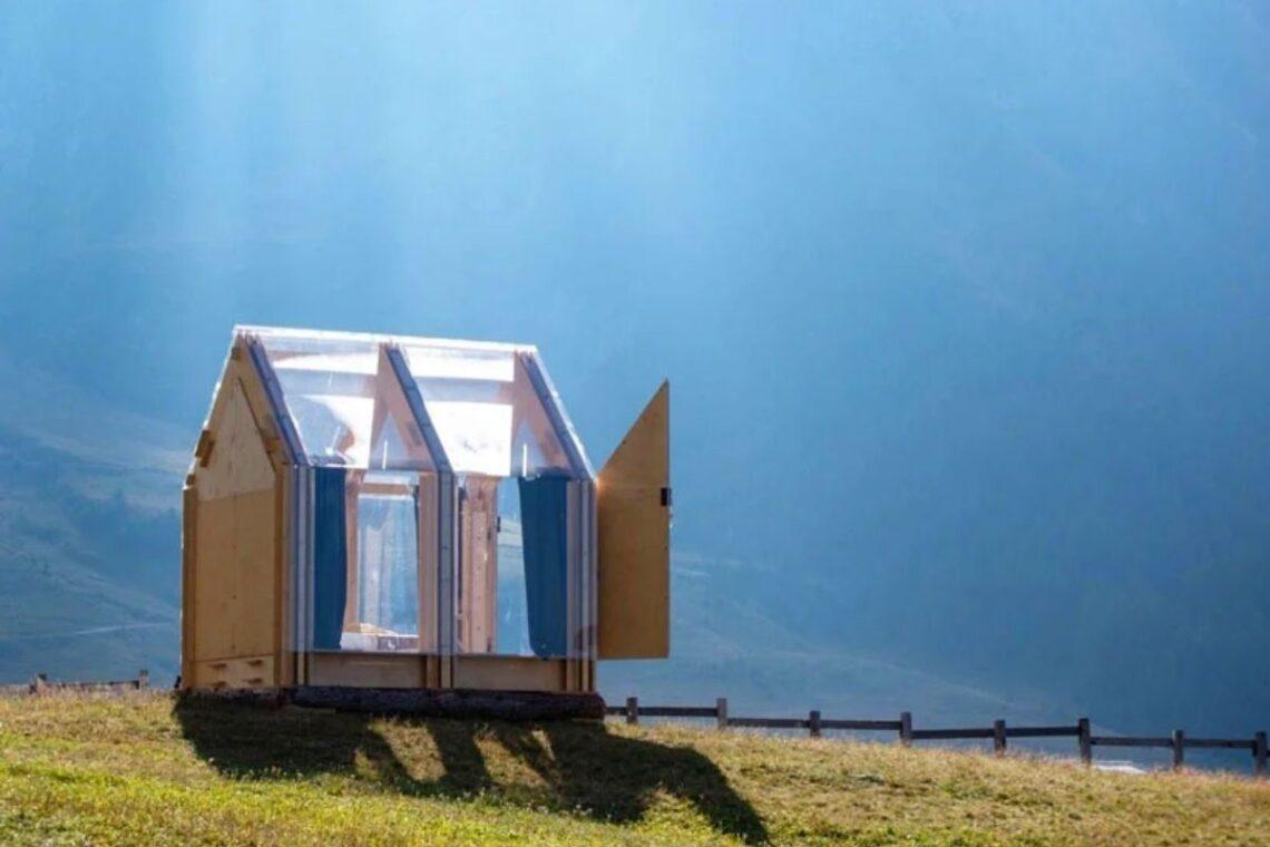 cabana trasnparente immerso foto 1