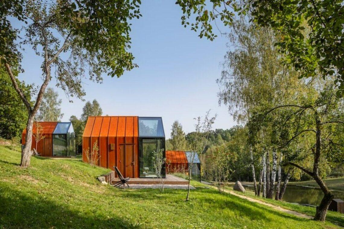cabanas de metal madeira e vidro open AD foto 1