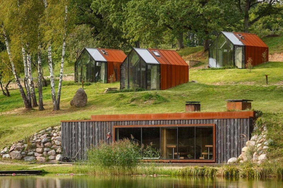 cabanas de metal madeira e vidro open AD foto 3