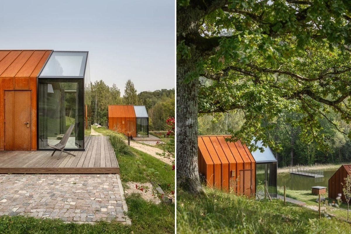 cabanas de metal madeira e vidro open AD foto 4