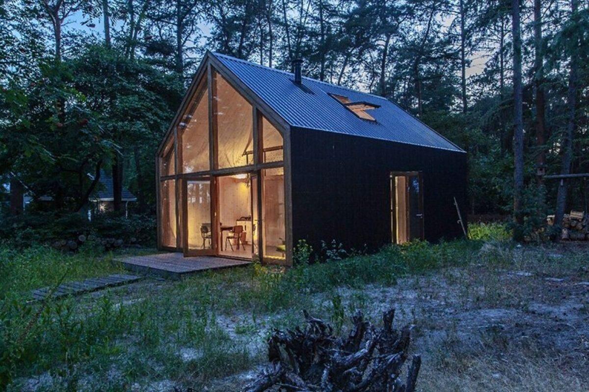 casa de madeira modular sustentável woonpioniers foto 1