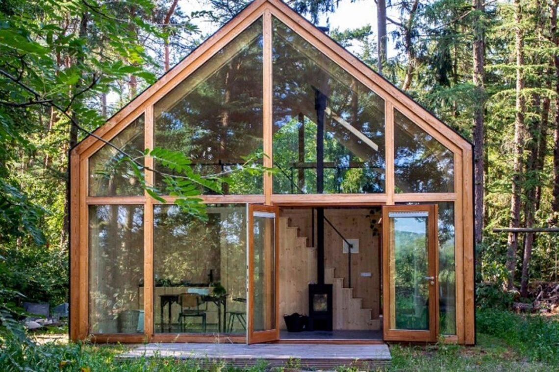 casa de madeira modular sustentável woonpioniers foto 2