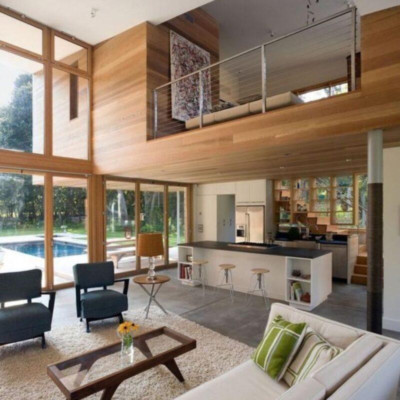casa de madeira por dentro foto 39
