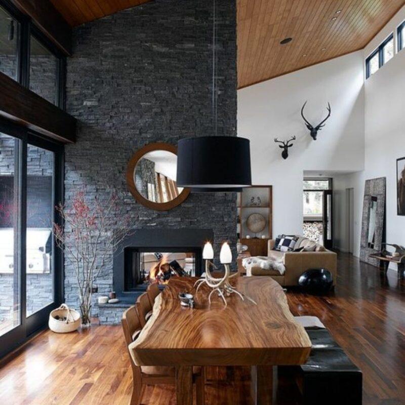 casa de madeira por dentro foto 40