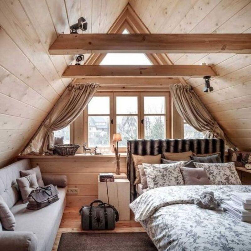 casa de madeira por dentro foto 45