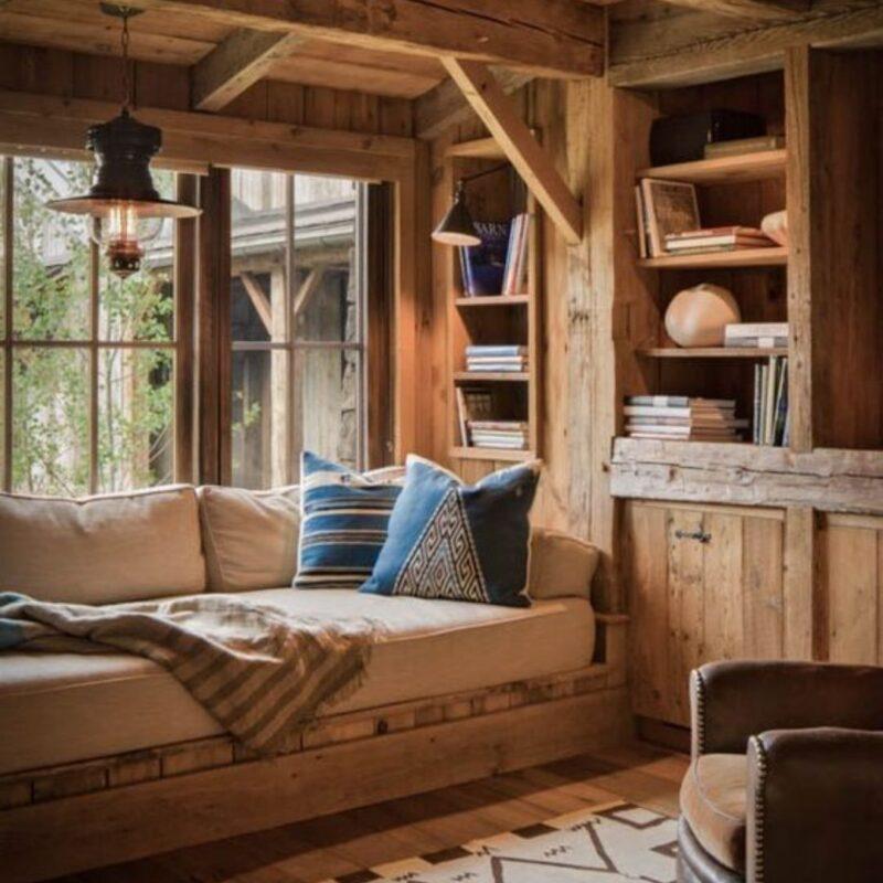 casa de madeira por dentro foto 47
