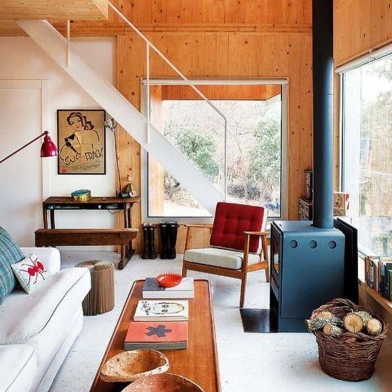 casa de madeira por dentro foto 50