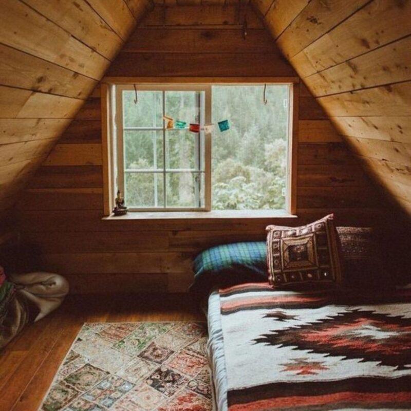 casa de madeira por dentro foto 64