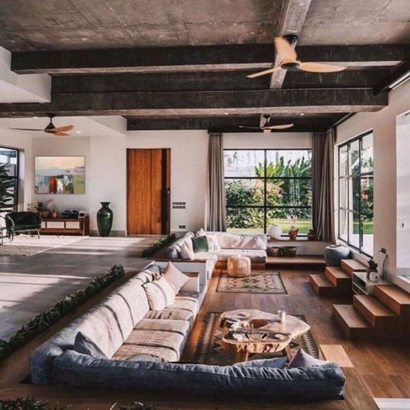 casa de madeira por dentro foto 65