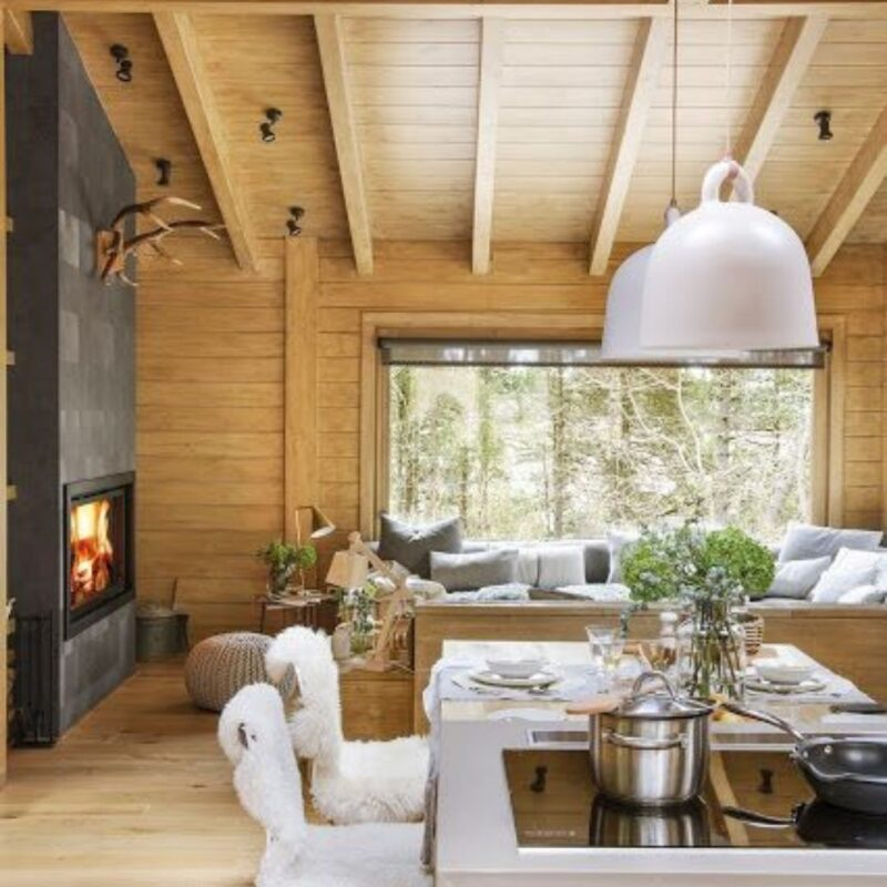 casa de madeira por dentro foto 69