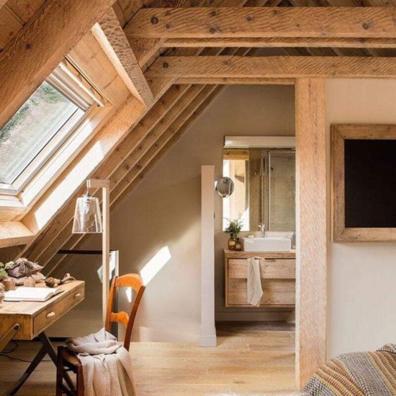 casa de madeira por dentro foto 70
