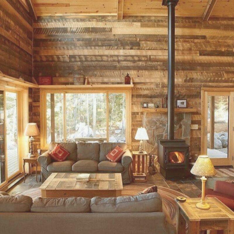 casa de madeira por dentro foto 73