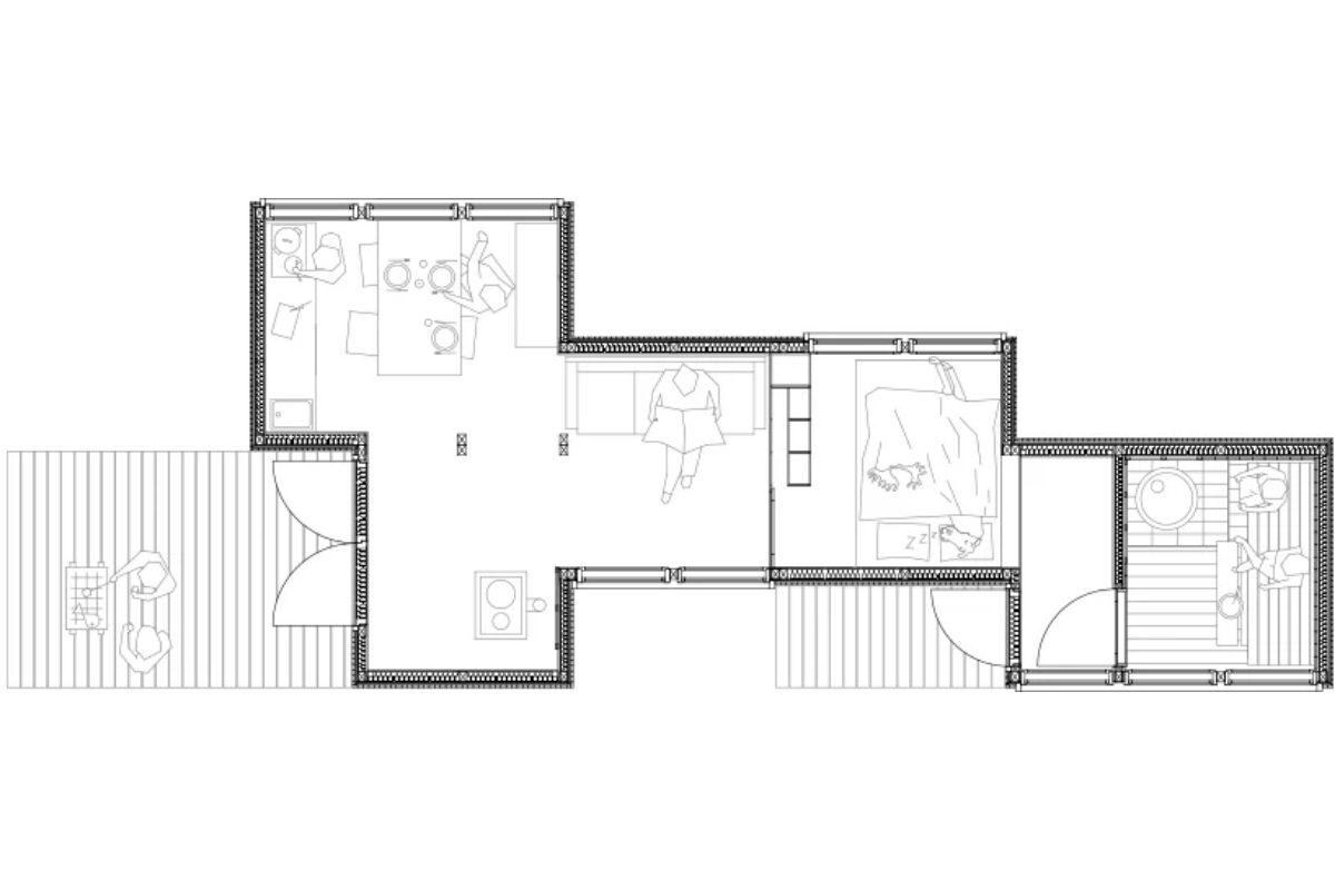 casa de madeira simples interior aconchegante politaire foto 2