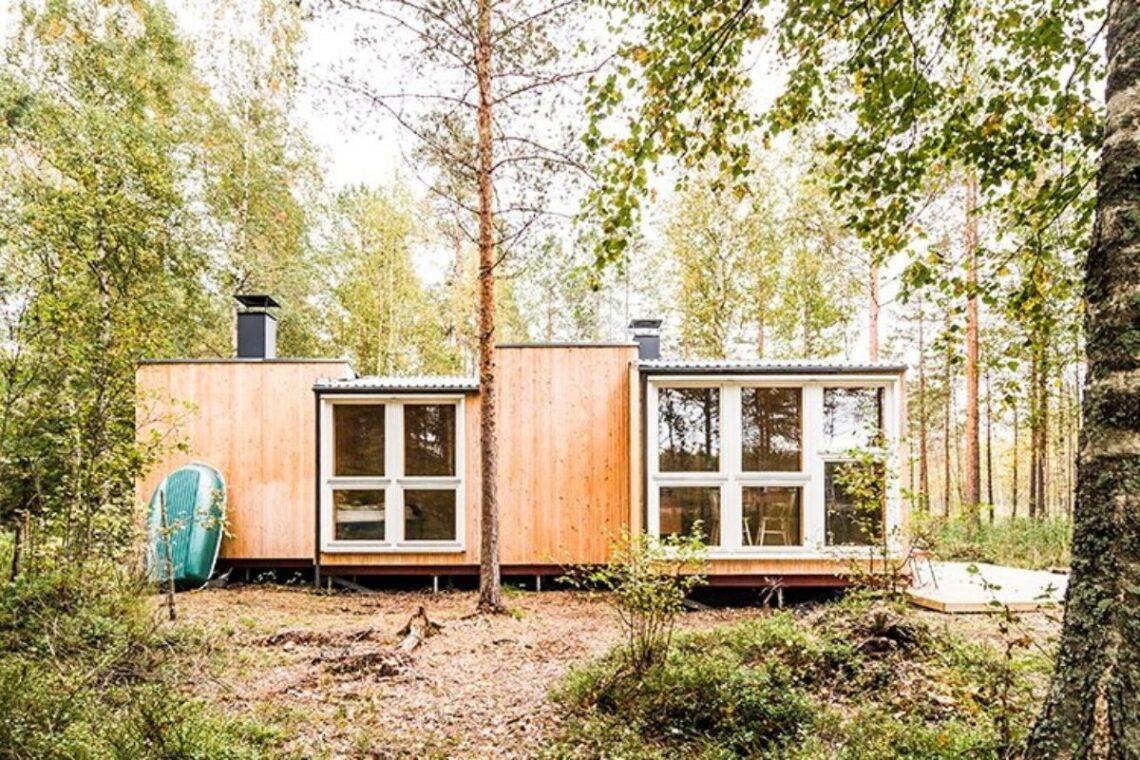 casa de madeira simples interior aconchegante politaire foto 4
