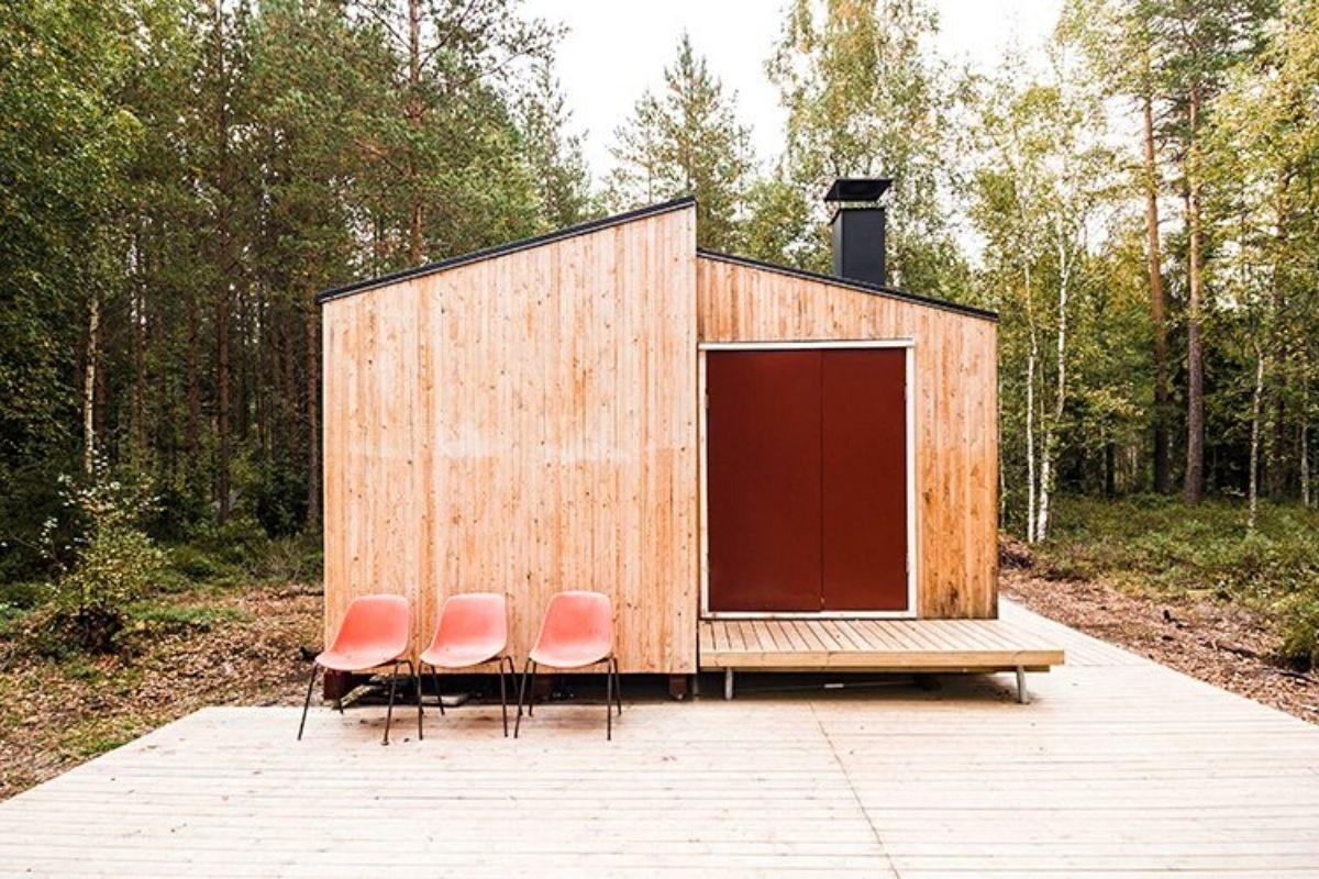 casa de madeira simples interior aconchegante politaire foto 8