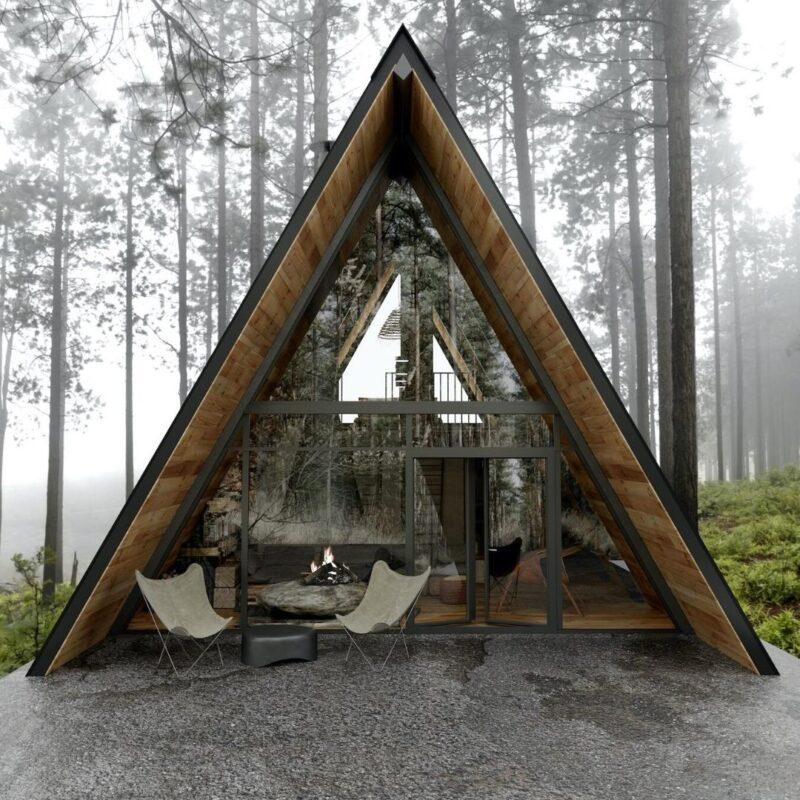 chalés de madeira e vidro foto 15