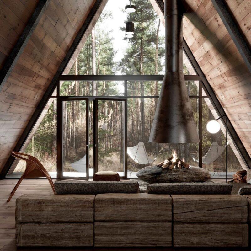 chalés de madeira e vidro foto 16