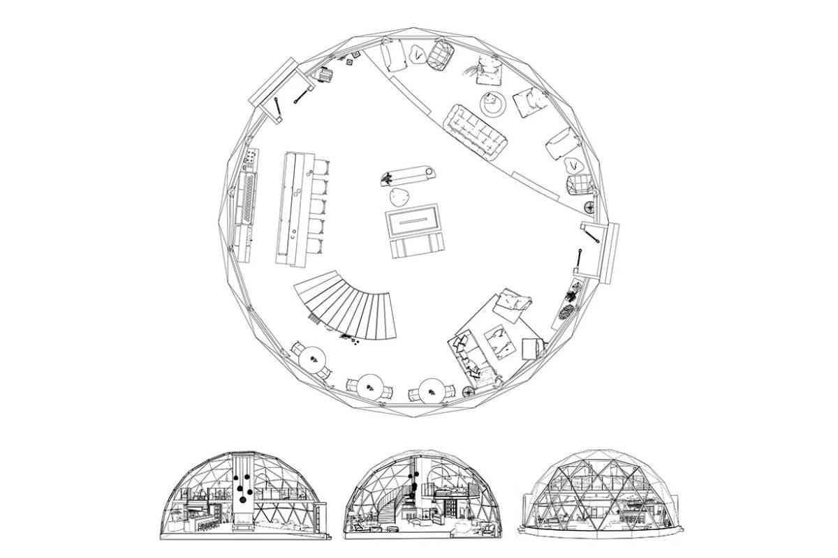 domo geodesico ecológico FUGU foto 10