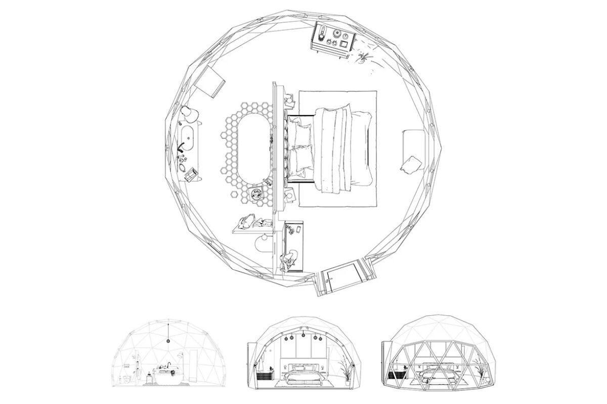 domo geodesico ecológico FUGU foto 9
