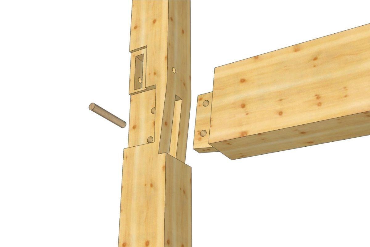 encaixe de madeira timber frame