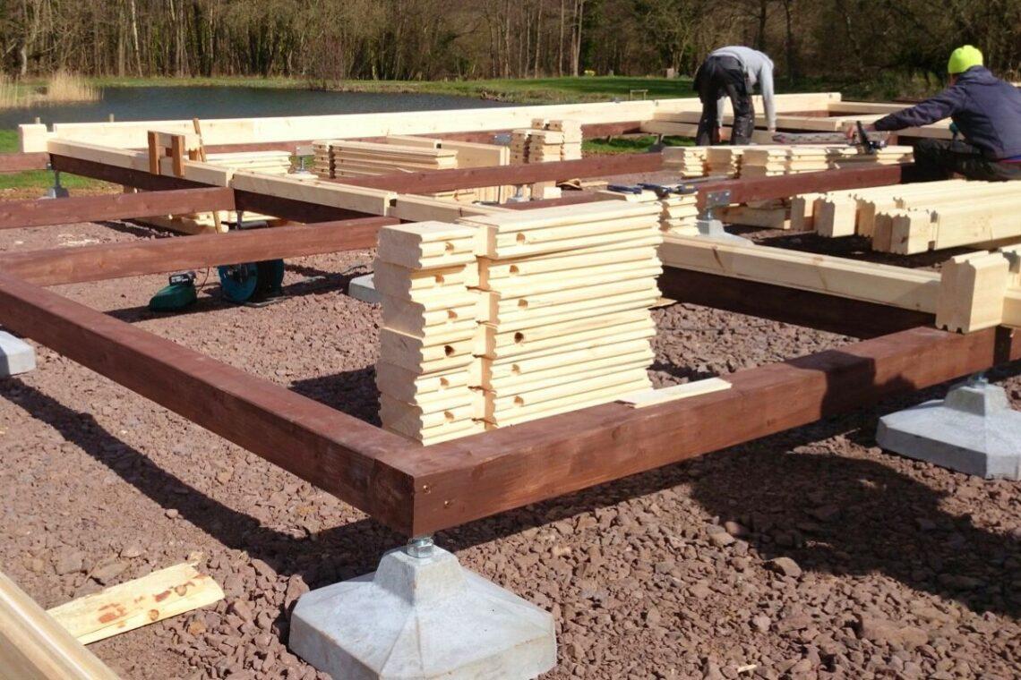 fundação para casas de madeira com sapatas isoladas