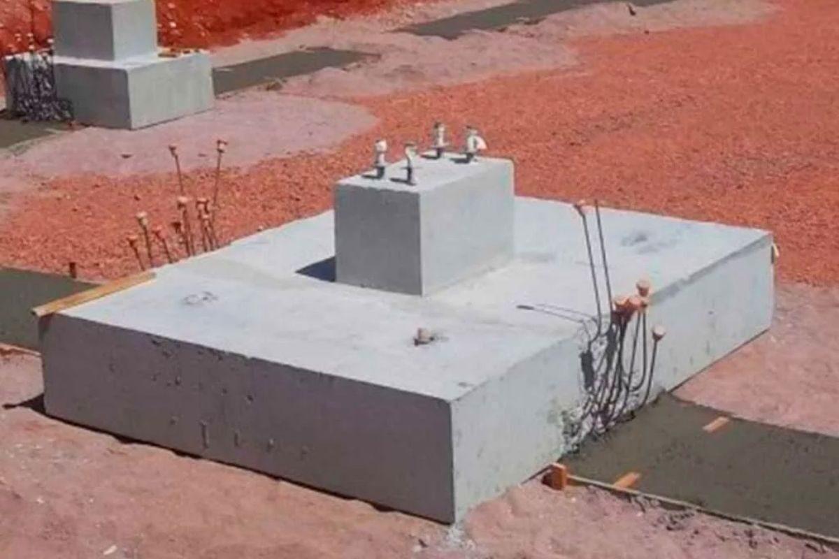 fundação para casas de madeira sapata isolada