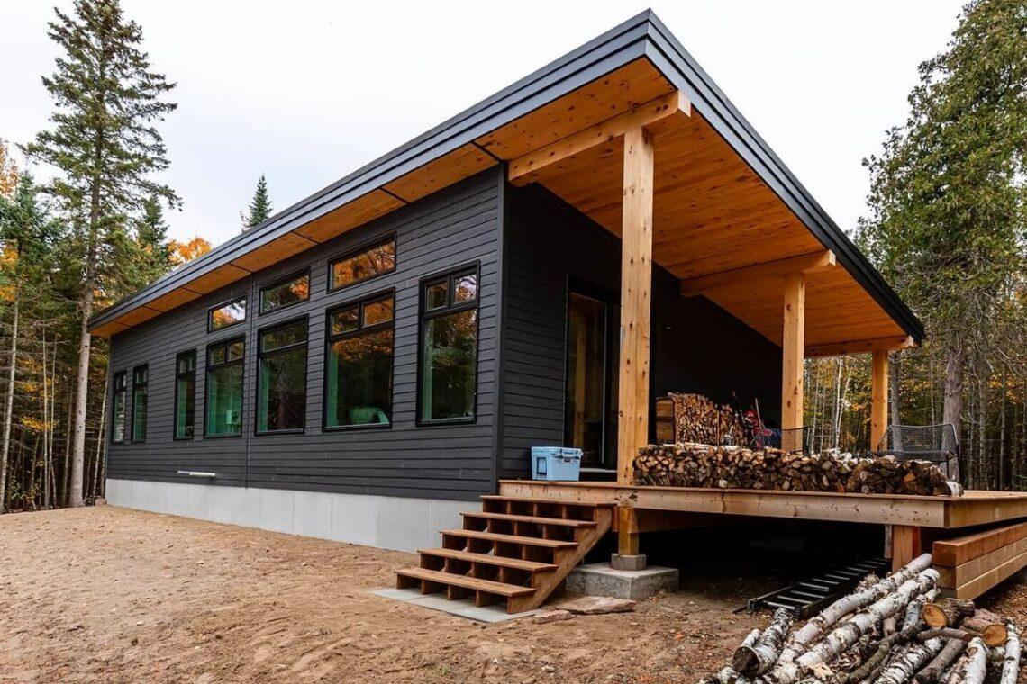 kit casa pré-fabricada moderna