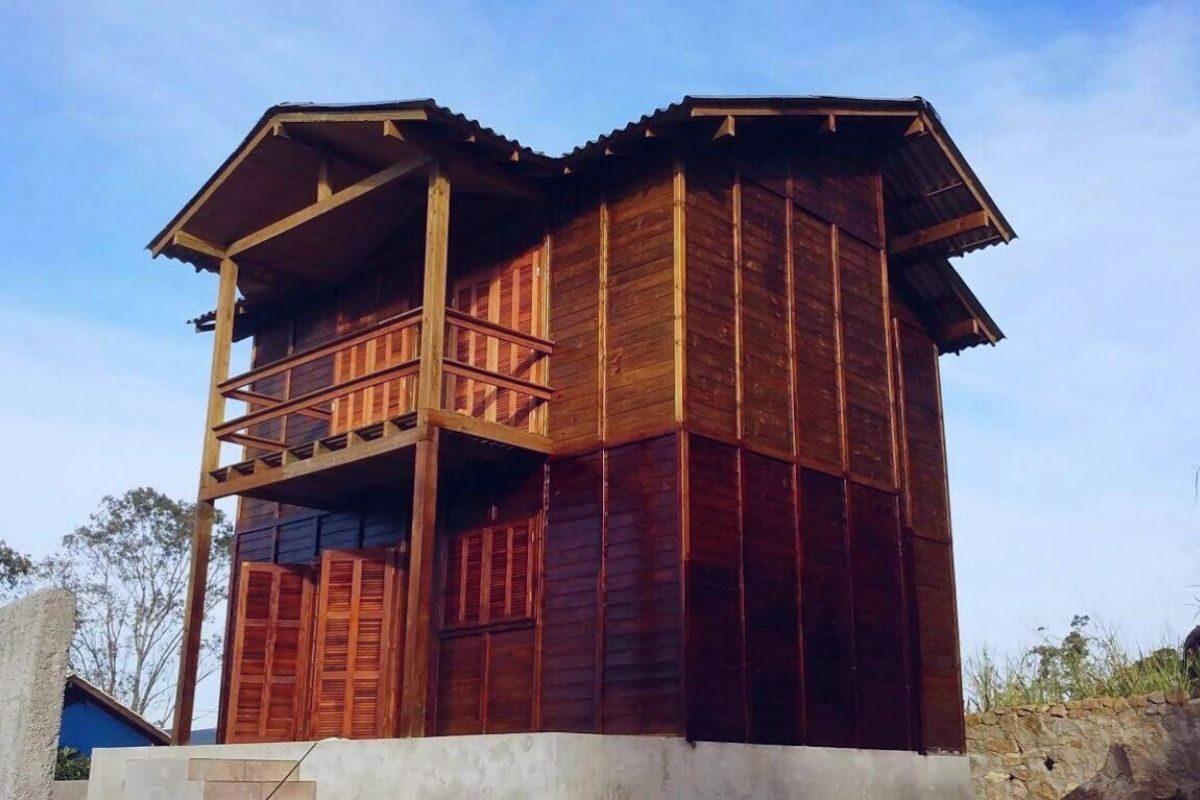 kit casa pré-fabricada sobrado
