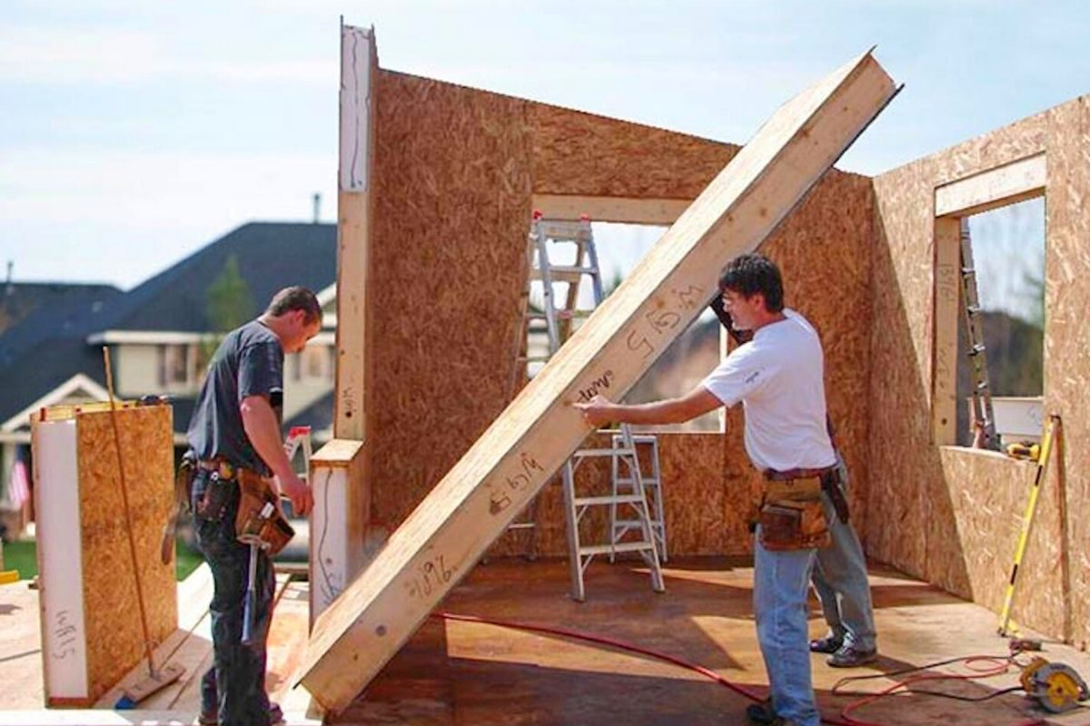 sip parede estrutural isolada timber frame