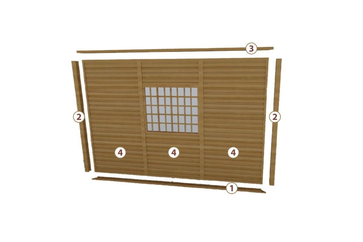 sistema de encaixe de madeira casa pré-fabricada parede simples