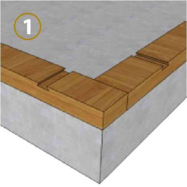 sistema de encaixe parede dupla montante inferior