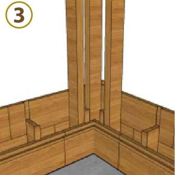 sistema de encaixe parede dupla montante lateral