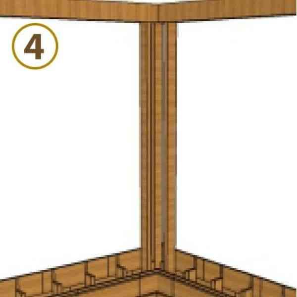 sistema de encaixe parede dupla montante superior