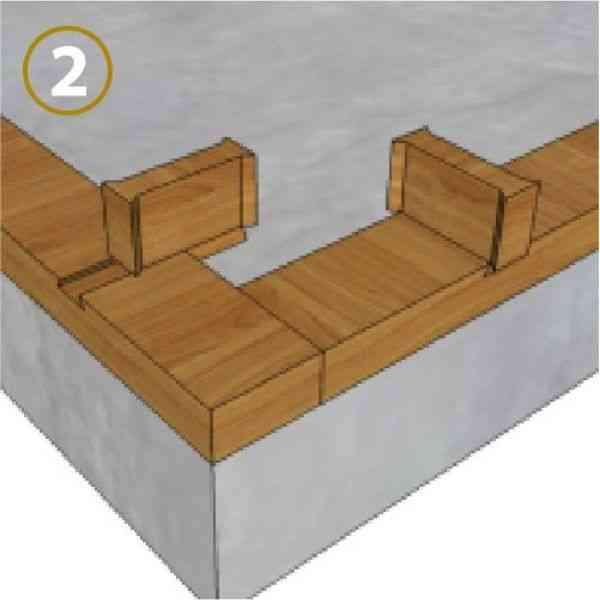 sistema de encaixe parede dupla trava de tijolo