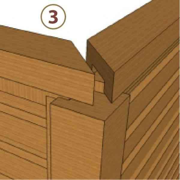 sistema de encaixe parede simples montante superior