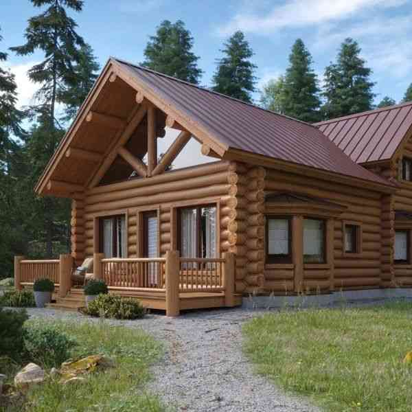 timber frame versus log home