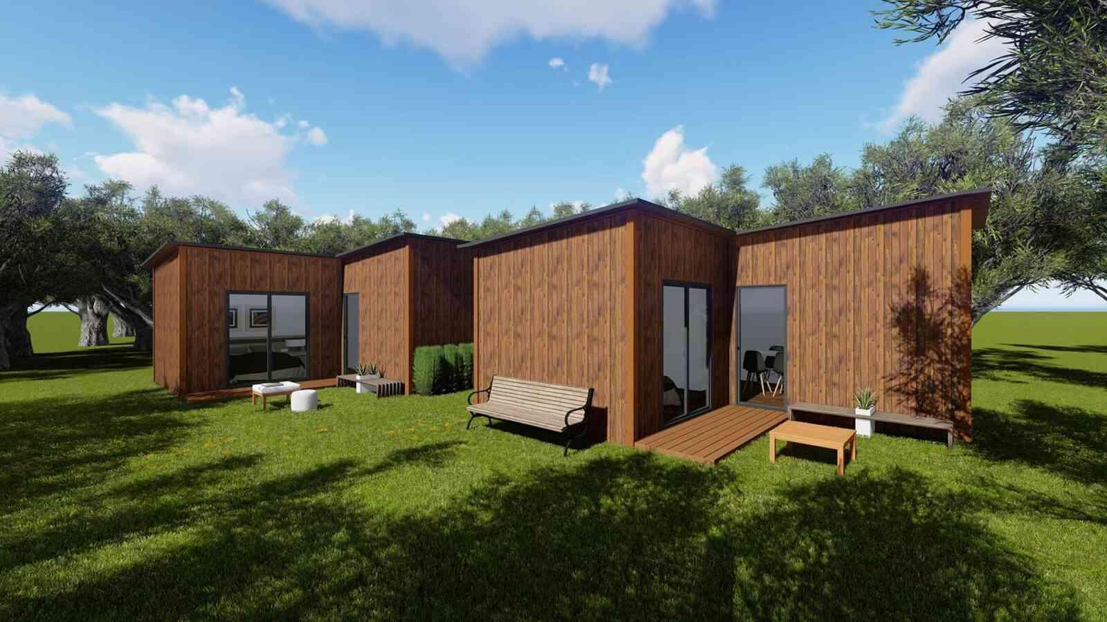 Casa de madeira modelo Solução Turismo 30m², em Portugal