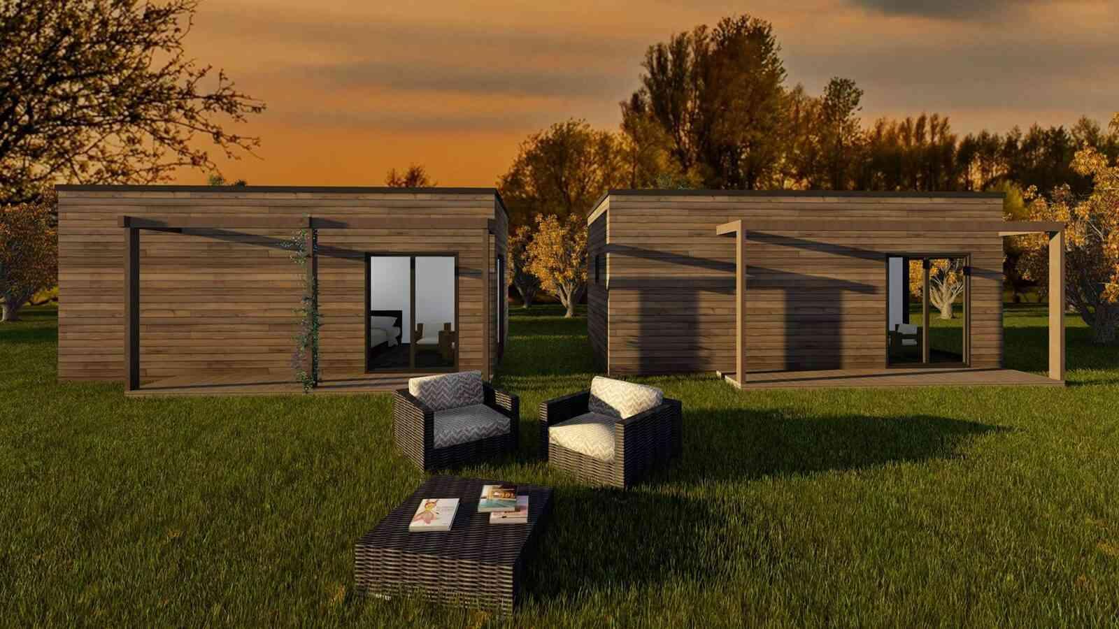 Confira o preço e as características do Casa de madeira pré-fabricada Solução Turismo 31m², da construtora Novo Habitat, em Portugal.