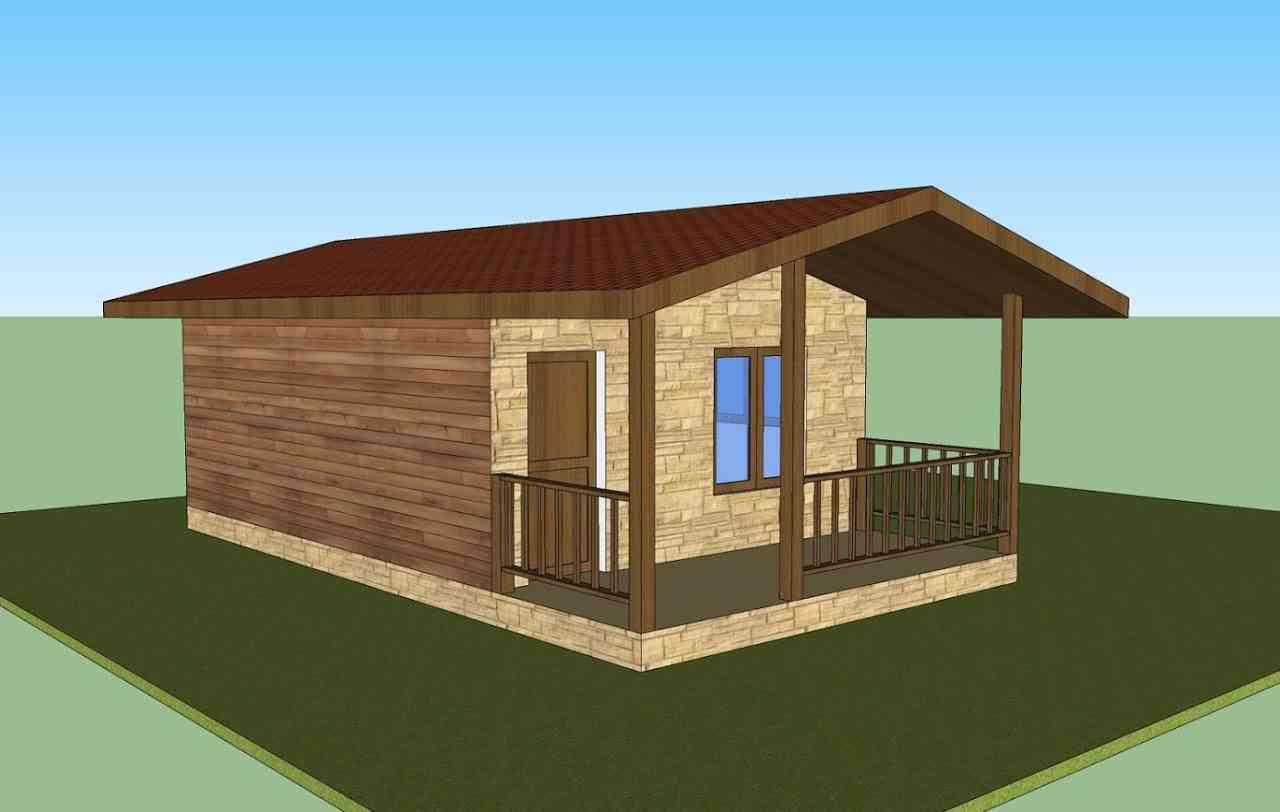 Casa de madeira modelo Casa de madeira VM 1070, em Portugal