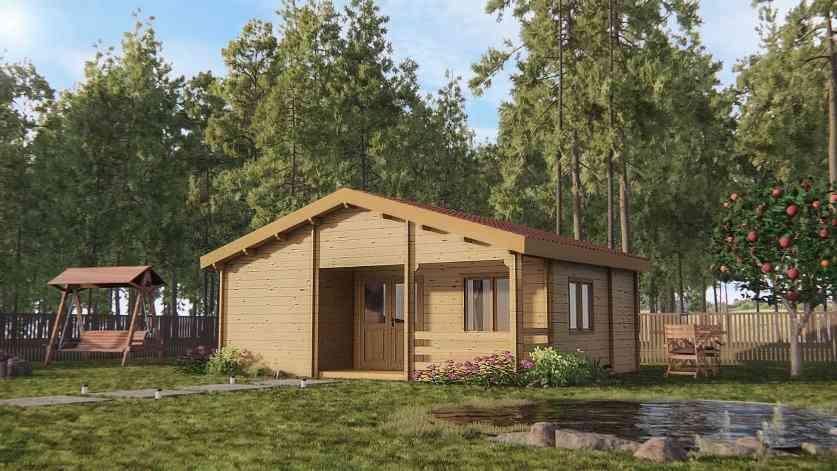 Casa de madeira modelo VAN XL, em Portugal