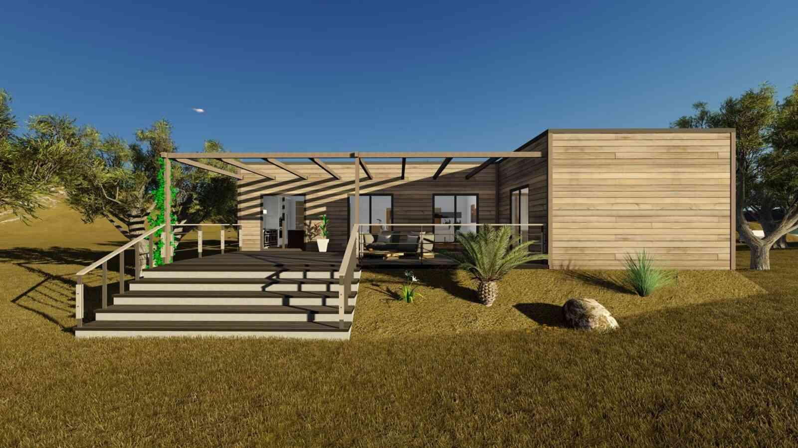 Casa de madeira modelo Casa Modular 132m², em Portugal
