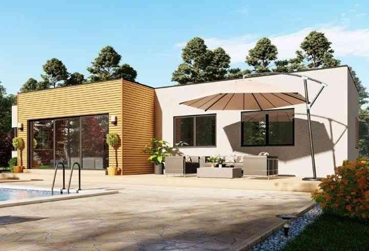 Casa de madeira modelo Casa Pré-Fabricada 149, em Portugal