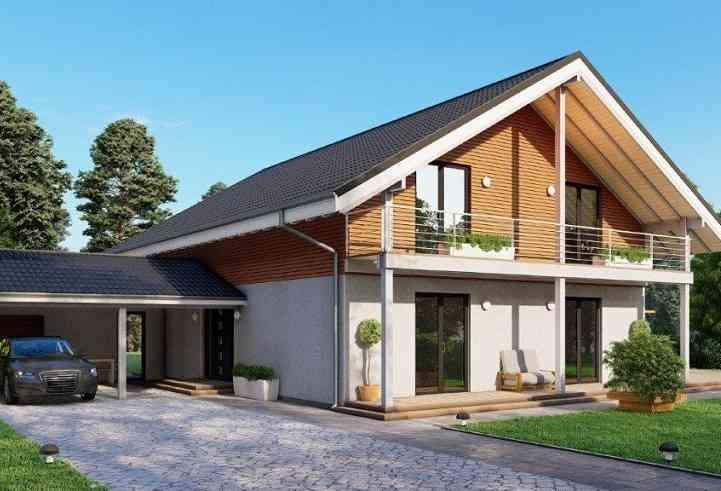 Casa de madeira modelo Casa Pré-Fabricada 215, em Portugal