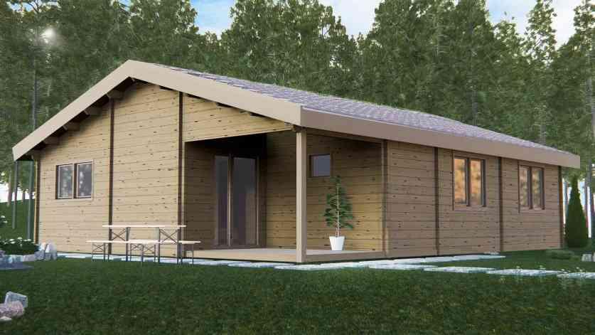 Casa de madeira modelo EBRO, em Portugal