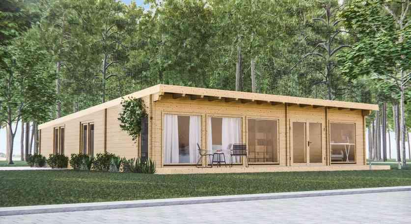 Casa de madeira modelo KARE, em Portugal