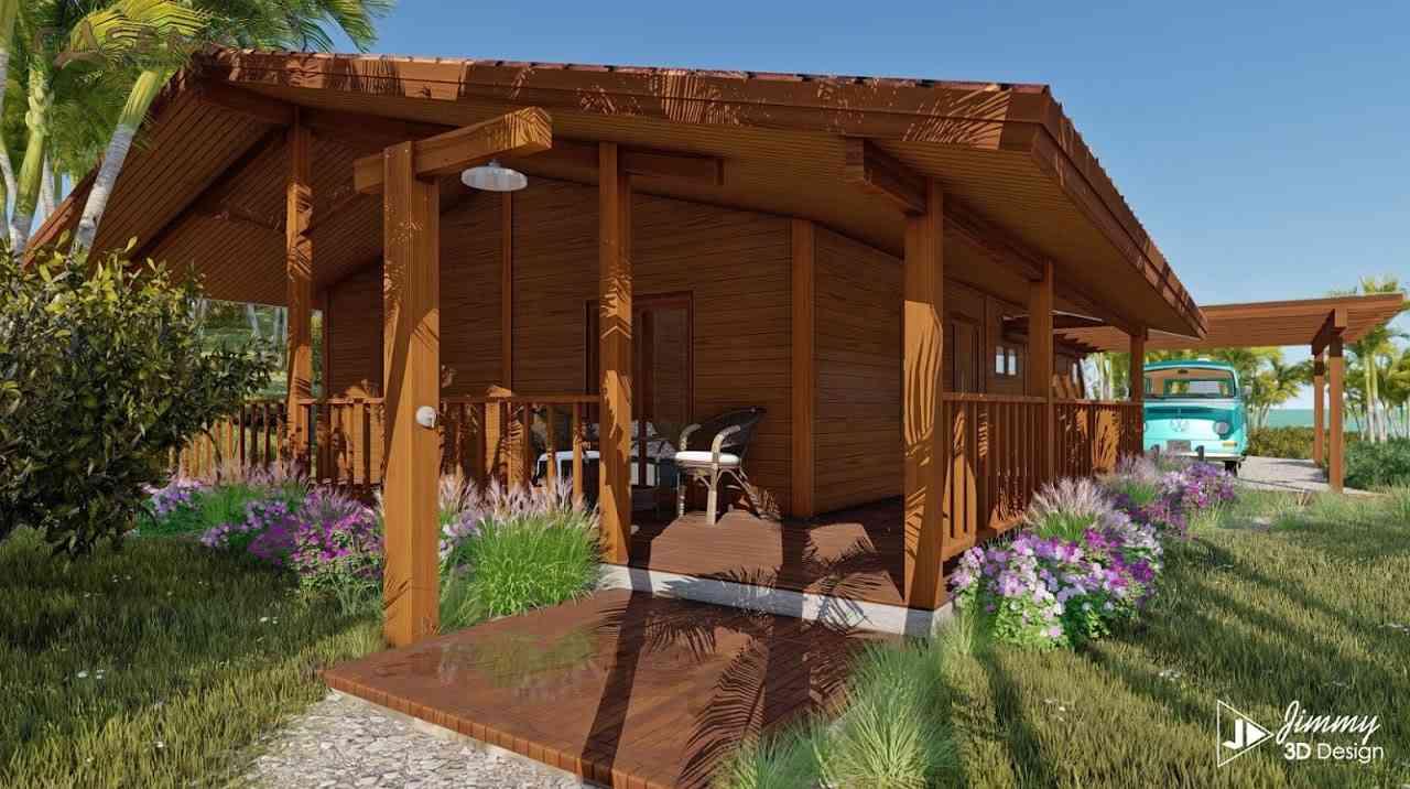 Casa de madeira modelo VM 3170, em Portugal