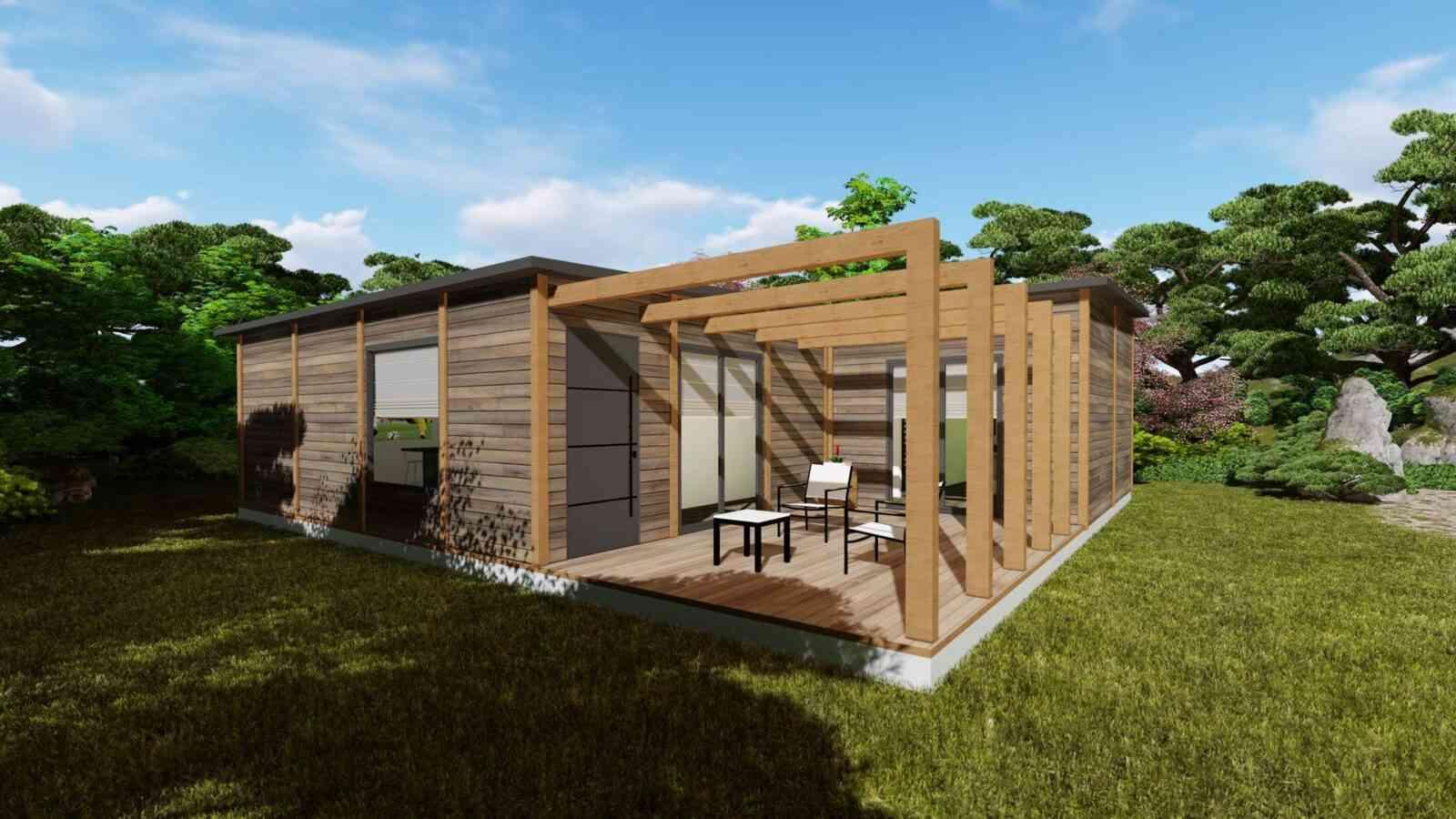 Casa de madeira modelo Modular 119m², em Portugal