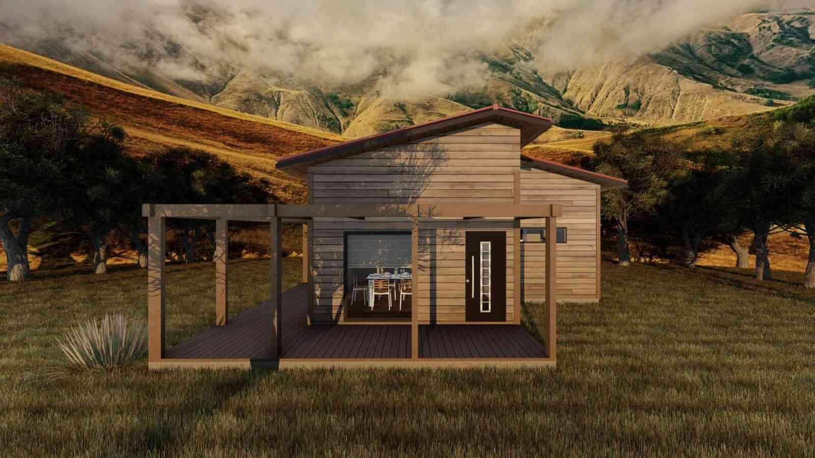 Casa de madeira modelo Modular 127m², em Portugal