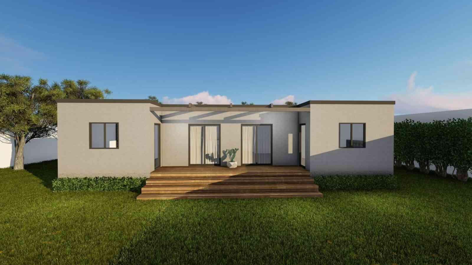 Casa de madeira modelo Modular 156m², em Portugal
