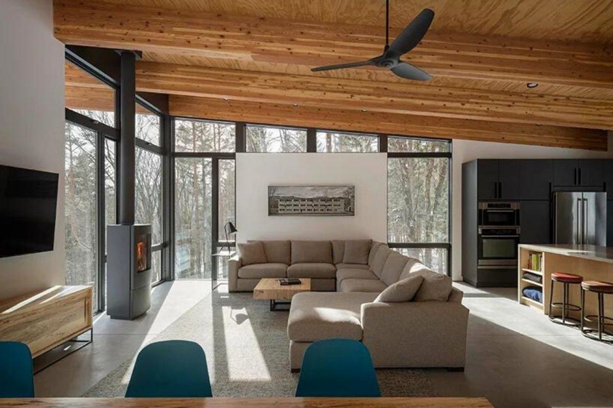 cabana de concreto metal e madeira olson kundig foto 4